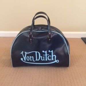 Von Dutch Leather Bowling Bag